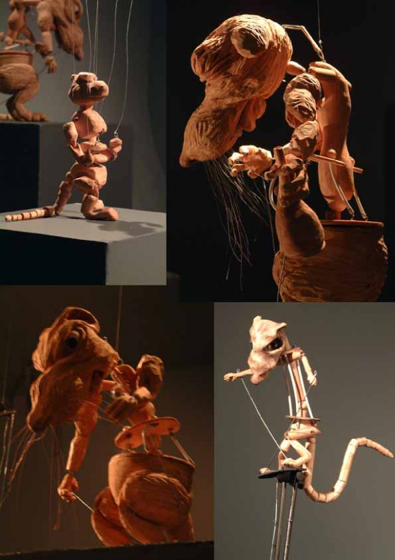 Collage of puppetry