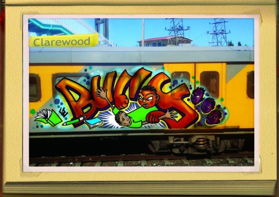 Off the wall - local train graffiti