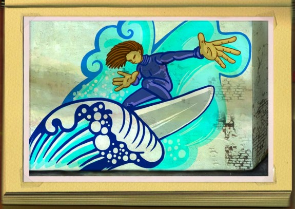 Surf graffiti